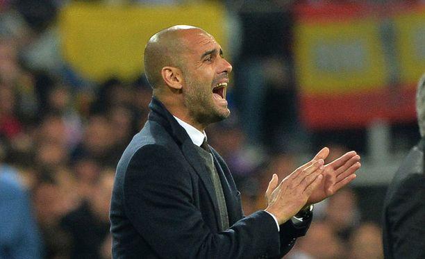 Pep Guardiola on ensi kaudella Manchester Cityn koutsi, kertoo Kicker.