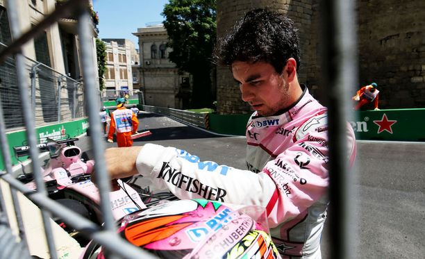 Sergio Pérez ajoi rajusti ulos Azerbaidzhanin GP:n ensimmäisissä harjoituksissa.