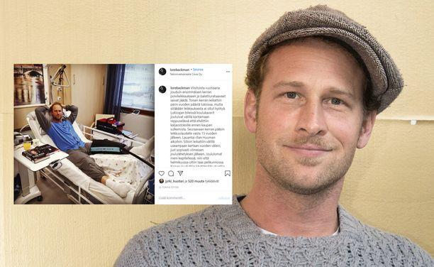Lorenz Backman kävi vastikään polven tekonivel-leikkauksessa.