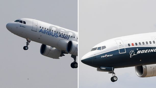 Airbus A320neo- ja Boeing 737 Max -koneet käyvät tiukkaa kilpailua tilaajien suosiosta.