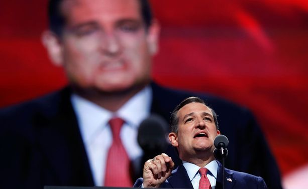 Ted Cruzin odotettiin osoittavan tukensa Donald Trumpille. Kun näin ei tapahtunut, Trump keskeytti Cruz puheen ja varasti kokousväen huomion.
