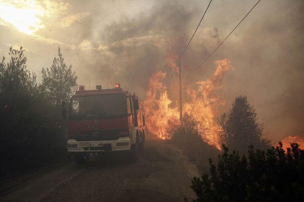 Kreikan palot aiheuttivat valtaisaa tuhoa ja veivät ainakin 90 ihmisen hengen heinäkuussa.