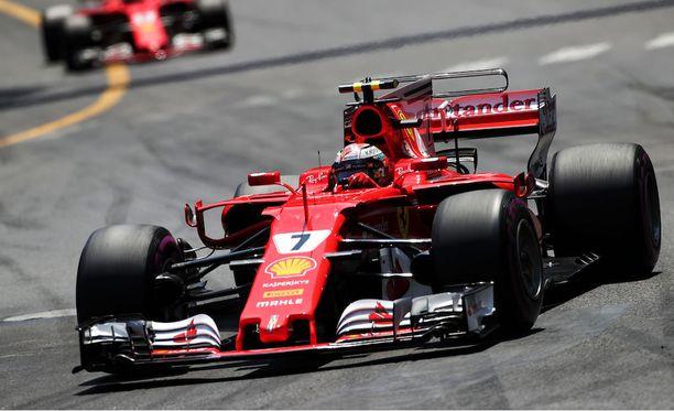 Kimi Räikkönen ajaa Monacon GP:n kakkostilalla.