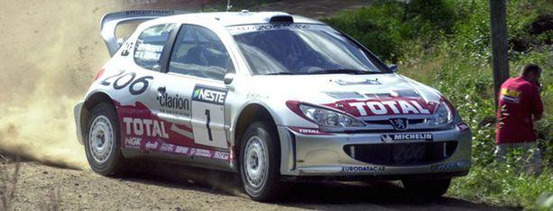 Marcus Grönholm Jyväskylän MM-osakilpailussa vuonna 2001.