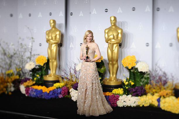Oscar-gaalassa jaetaan elokuva-alan halutuimmat pystit. Kuvassa Cate Blanchett vuonna 2014.