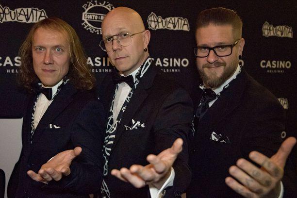Apulannan Sipe Santapukki, Toni Wirtanen ja Ville Mäkinen.