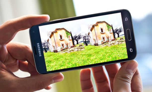 Sovellus esittelee virtuaalista huvilaa Toscanassa.