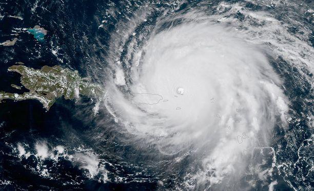 Kuvassa hurrikaani Irma.