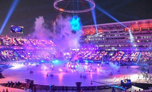 Olympiakisojen avajaisisia harjoiteltiin Suomen säässä.