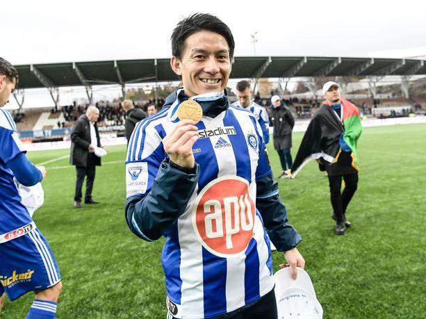 Atomu Tanakan edellinen visiitti HJK:ssa päättyi mestaruuteen.