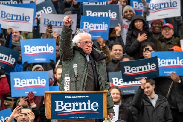 Bernie Sanders käynnisti presidentinvaalikampanjansa maaliskuun alussa New Yorkin Brooklynissä. Paikalla oli 13 000 ihmistä.