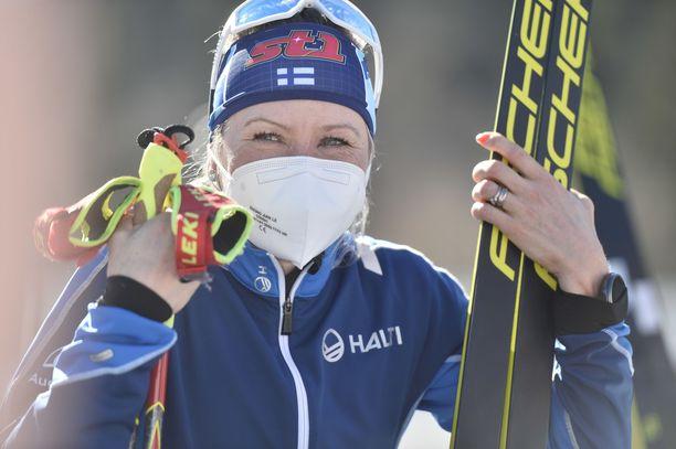 Riitta-Liisa Roponen oli suomalaisonnistuja tiistaina.