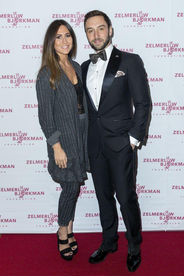 Ciara Janson ja Måns Zelmerlöw ovat nyt aviopari. Kuva vuodelta 2017.