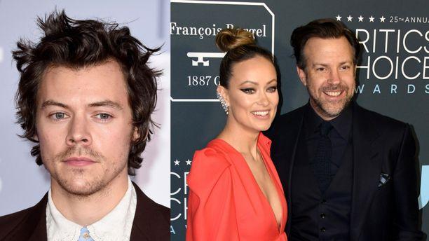 Harry Styles (vas.) on omillaan, kun Olivia Wilde ja Jason Sudeikis viettävät aikaa lasten kanssa.