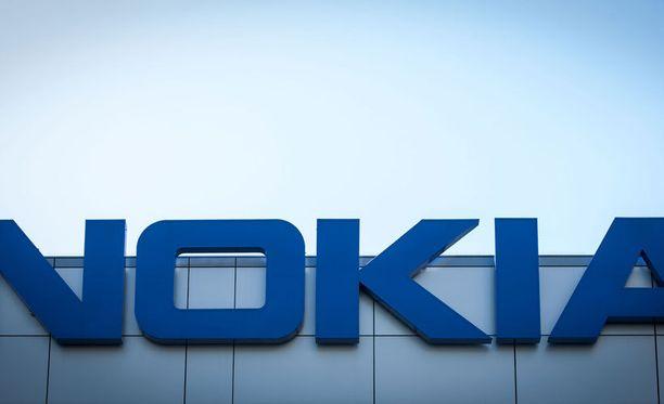 Nokian logo rakennuksessa Los Angelesissa Yhdysvalloissa.