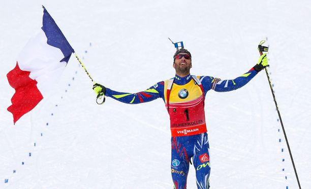 Martin Fourcade on Oslon MM-kisoissa voittanut kultaa sekaviestissä, pikamatkalla ja takaa-ajossa.
