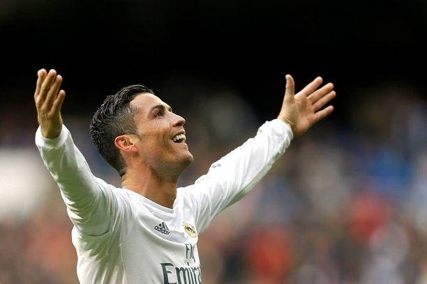 Cristiano Ronaldo on tuulettanut tällä Mestarien liiga -kaudella jo 12 kertaa.