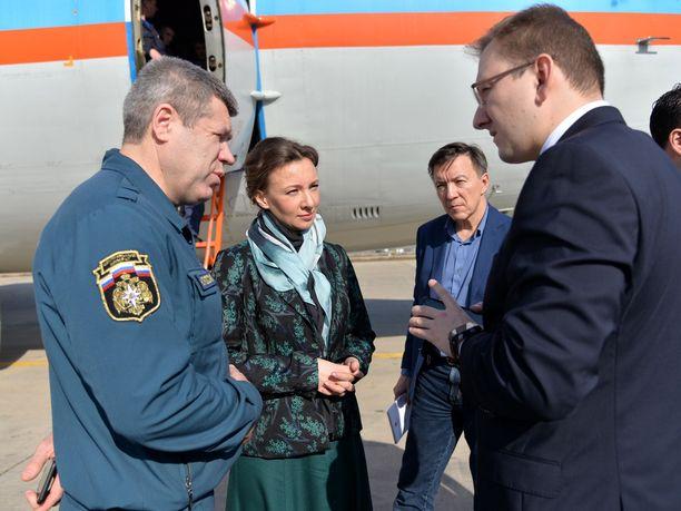 Venäjän lapsiasiainvaltuutettu Anna Kuznetsova kuului ryhmään, joka matkusti palautettujen lasten kanssa Bagdadista Moskovaan.