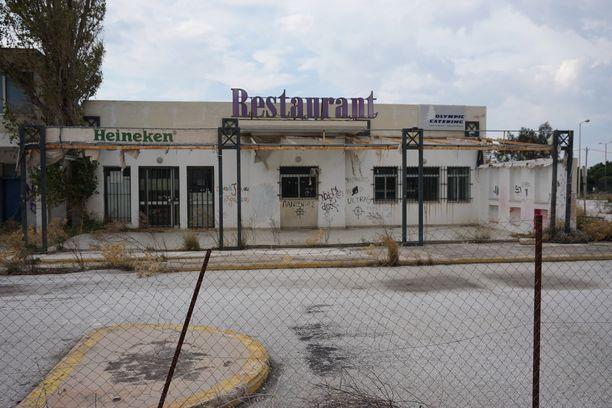 Ellinikón olympiakeskuksen ravintola ei ole ollut toiminnassa vuosiin.