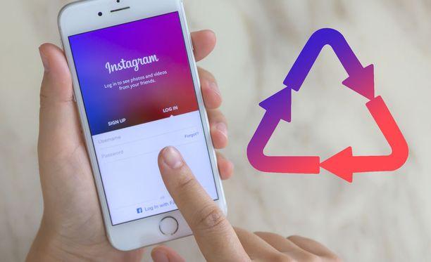 Pian Instagramissa on mahdollista jakaa muiden julkaisuja.