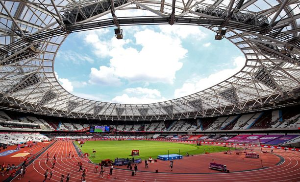 Tältä näyttää Lontoon olympiastadion.