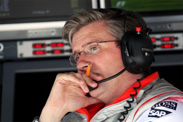 18 vuotta McLarenilla viihtynyt Pat Fry vaihtaa työnantajaa.