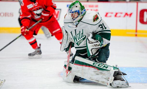 Leland Irving torjui viime kaudella AHL:n Iowa Wildissa.