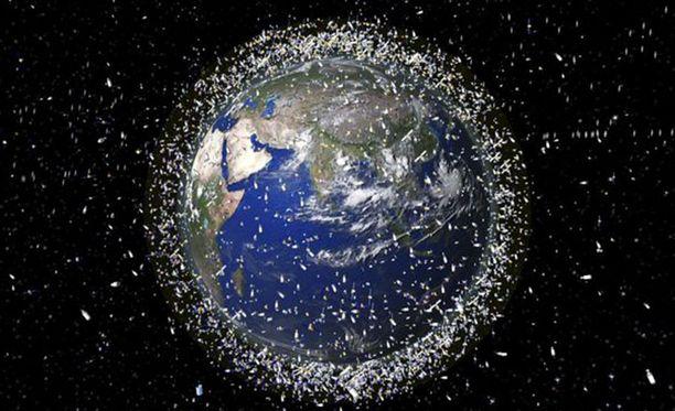 Maapalloa kiertää arviolta 100 miljoonaa ihmisen tekemää kappaletta.