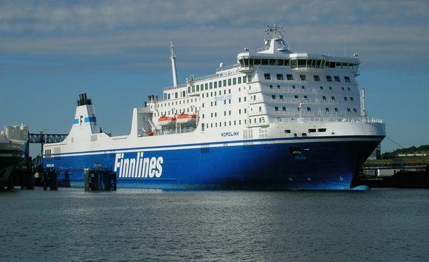 Tapaus sattui Finnlinesin Nordlink-aluksella. Arkistokuva.