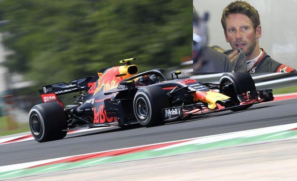 Max Verstappenin (auto) temppu ei miellyttänyt Haasin Romain Grosjeania.