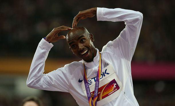 Mo Farah tuuletti tuttuun tapaan myös 5 000 metrin MM-hopeaa.