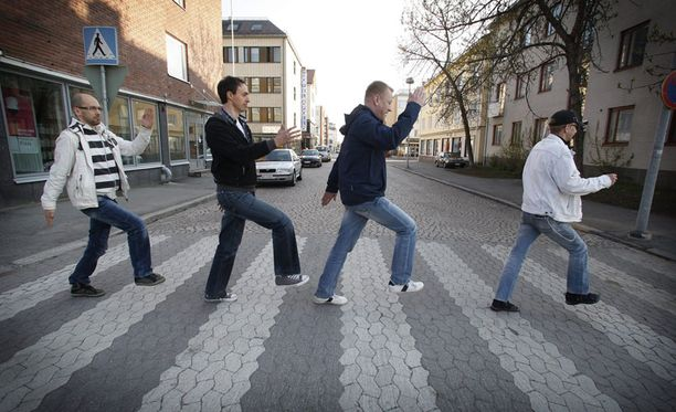 Matti Fredriksson (vas.), Mika Lilja ja Kari Heiskari (ei kuvassa) lähtivät kävelemään suositusta yhtyeestä erimielisyyksien takia.