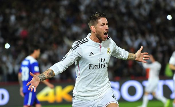Sergiom Ramos puski Realin taukojohtoon.