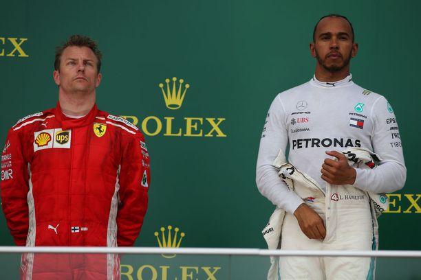 Lewis Hamilton nousi voitollaan MM-kärkeen. Kimi Räikkönen on kolmantena.
