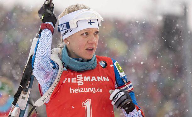 Kaisa Mäkäräinen on tyrkyllä hiihdon MM-kisoihin.