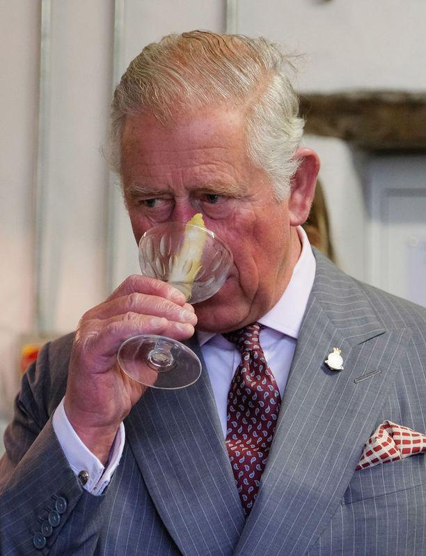 Prinssi Charlesille tarjottiin ainakin yrityksen palkittua giniä ja siitä valmistettu martinin.