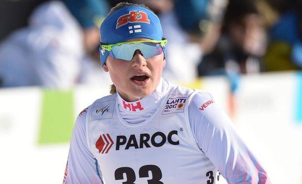 Johanna Matintalo ei hiihdä tänään nuorten MM-kisoissa.