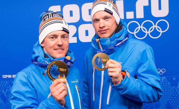 Sami Jauhojärvi ja Iivo Niskanen voittivat olympiakultaa Sotshissa.