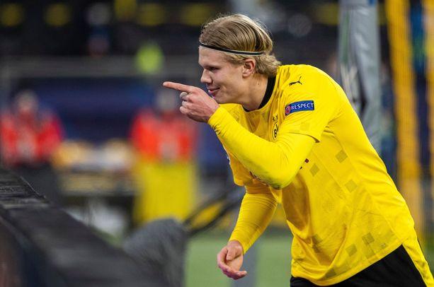 Erling Håland on nopeimmin 20 Mestarien liiga -maaliin yltänyt pelaaja.