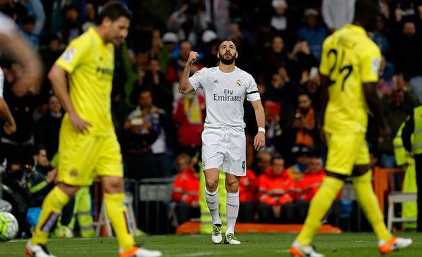 Karim Benzema viimeisteli Real Madridin voittomaalin.