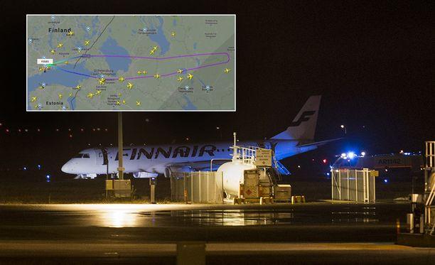 Lento AY85 maanantailta on peruttu kokonaan.