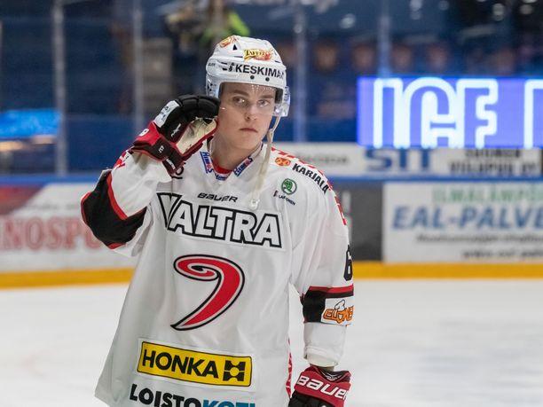 Julius Honka viiletti viime kaudella JYPissä.
