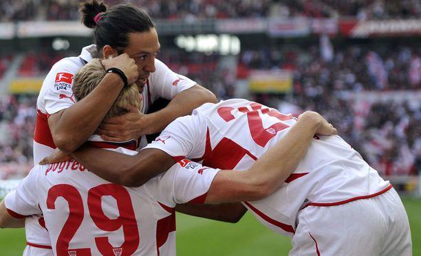 Stuttgartin pelaajille riitti juhlittavaa.