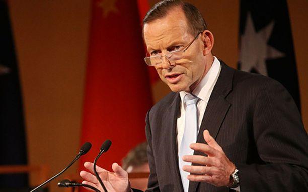 Australian pääministeri Tony Abbott.
