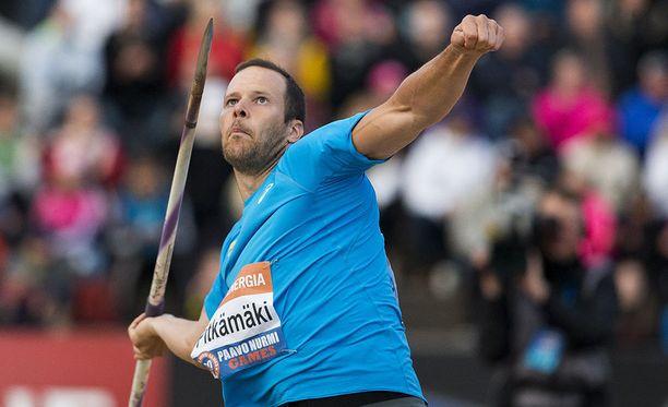 Tero Pitkämäki linkoaa keihästä ensi vuoden elokuussa järjestettävissä EM-kisoissa.