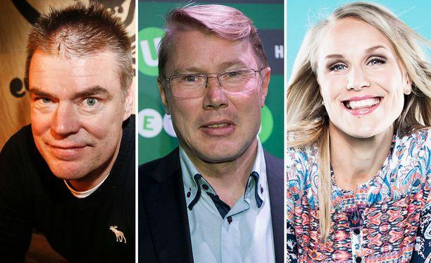 Raimo Helminen, Mika Häkkinen ja Minna Kauppi on kutsuttu Linnaan.