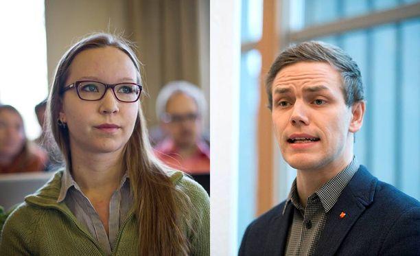 Kampanjan perustaneet Vihreiden nuorten puheenjohtajat Saara Ilvessalo ja Jaakko Mustakallio pitävät ministeriön näkemyksiä vanhanaikaisina.