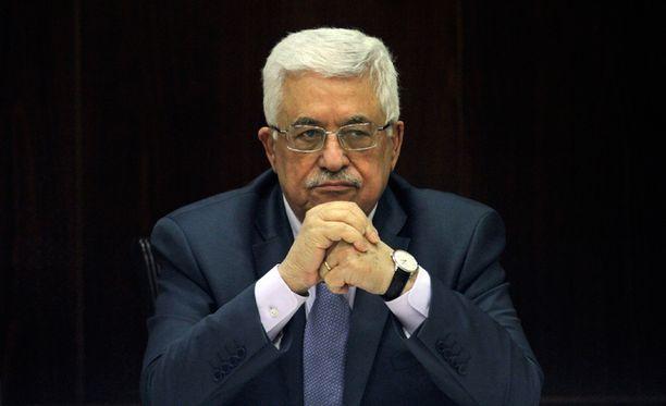 Palestiinan presidentti Mahmud Abbas.