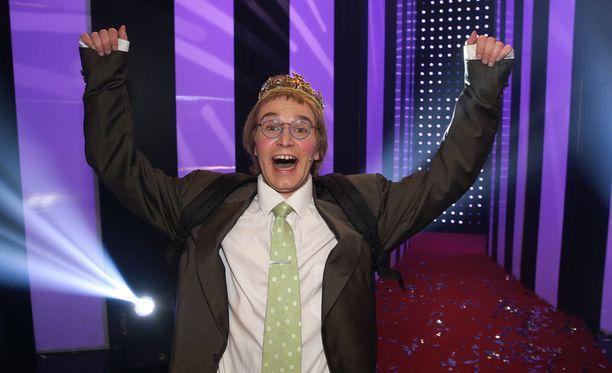 Joonas Nordman voitti vuosi sitten sketsihahmokisan Matti Pikkuvanhasena.