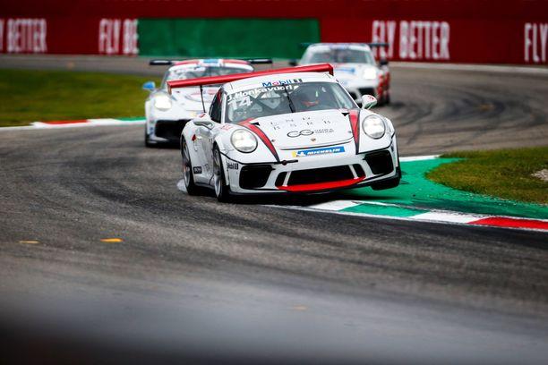 Jukka Honkavuori debytoi Porsche Supercup -sarjassa viime syksynä Monzassa.